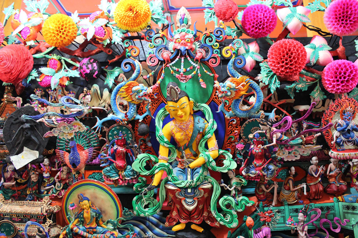 Jakvaj Buddha, Kumbum Apátság (塔尔寺), Qinghai, Kína