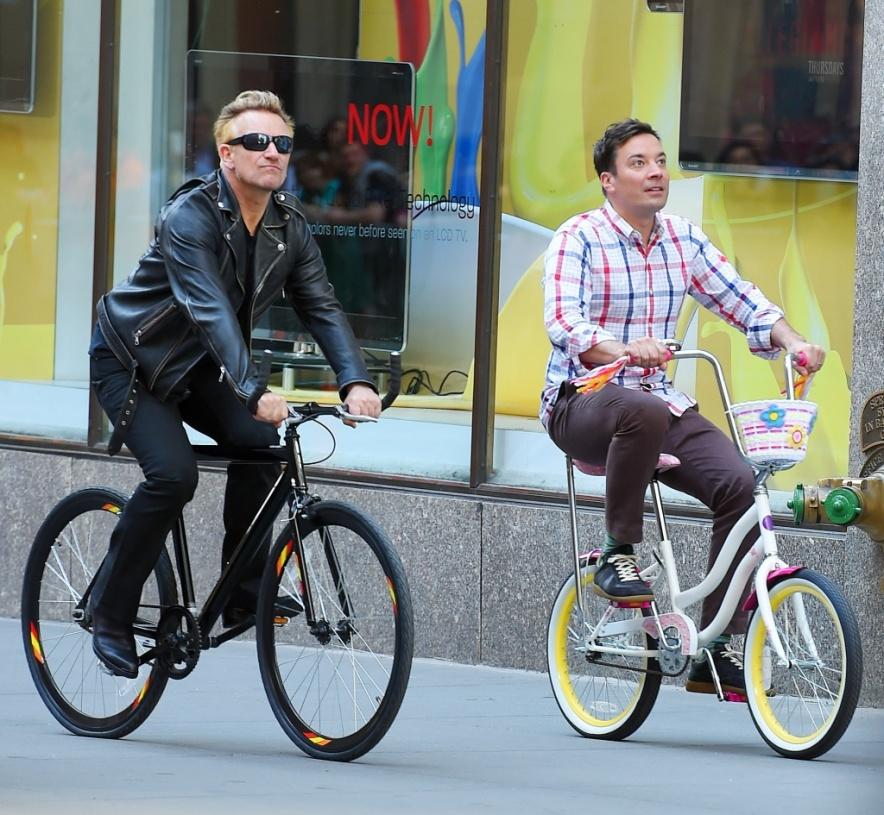 bono fallon on bike